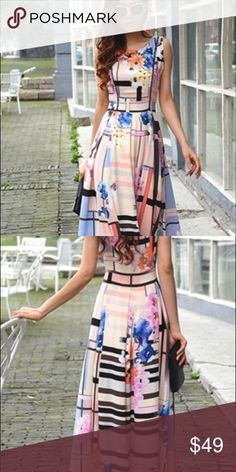 Beautiful elegant maxi dress new with tag Beautiful elegant maxi dress Dresses Maxi