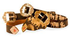 "Original Appenzeller Gürtel, handzisiliert ""Chüeligurt"" - Art-of-Crafts Messing, Metal Stamping, Arts And Crafts, The Originals, Womens Fashion, Accessories, Leather, Metal Embossing, Craft Items"