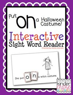 """Put on a Halloween Costume"" Interactive Sight Word Reader"