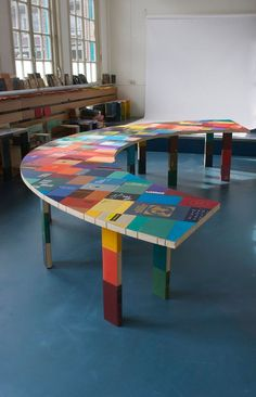 Table made from books! Booked by Jacqueline le Bleu