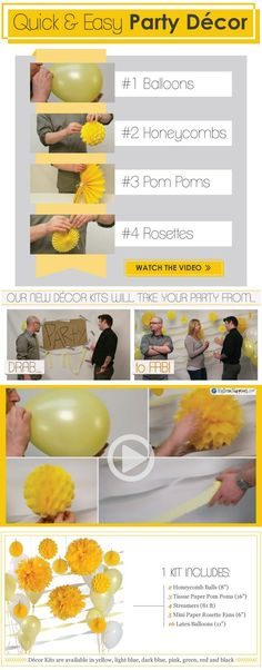 Party Decorating Ideas - Quick & Easy D�cor Kits | Baby Shower Decorations & Birthday Party Decorations