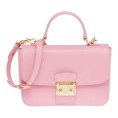 Miu Miu Pink Madras Top Handle Bag