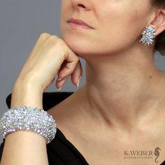 bransoletka,szeroka,beading,srebro - Bransoletki - Biżuteria w ArsNeo