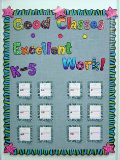 Behavior Charts. If the class work well that day, they received a star. The class with the most at the end of the semester got to go through the prize box.