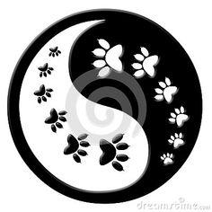 Cat paw print yin yang by Del69, via Dreamstime