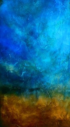 detail of Sapphire and Sand 2: Charlen's Abstracts etsy