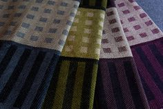 Pattern: Tea Towel Squares & Stripes Handwoven by HandwovenHome on Etsy