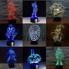 Multiple LED 3D night lights Creative Ambient Light Desk lamp Home Lighting Bulbing Color change Kids Gifts