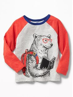 Old Navy Graphic Raglan-Sleeve Tee for Toddler Boys - ShopStyle