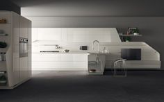 """Il programma Flux Swing di Scavolini (Giugiaro Design) è stato selezionato per il 2016 per la categoria """"Kitchen/Appliances"""" aggiudicandosi il GOOD DESIGN Award 2016."""