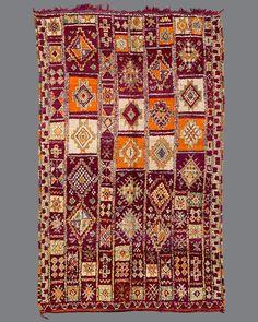 vintage Moroccan rug, Boujad #BJ01