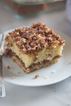 This Sour Cream Coffee Cake is not only incredibly EASY to make, it's absolutely delicious! A tender crumb cake with cinnamon pecan topping. You wont be able to stop at just one piece. Food Cakes, Cupcake Cakes, Cupcakes, Cake Recipes, Dessert Recipes, Brunch Recipes, Breakfast Recipes, Sour Cream Coffee Cake, Coffee Cream