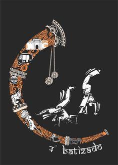 Capoeira Pune 4th Batizado:  Mestre caxias  Monitor Arrepiado Vector Design, Graphic Design, India Crafts, Indian Illustration, Job Work, Love Design, Pune, Medium Art, Doodle Art