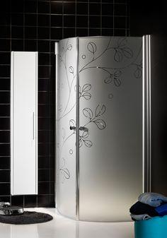 Hafa Igloo RM Flower Duschhörn. Elegant duschhörn med stora glasytor i härdat säkerhetsglas och få profiler.