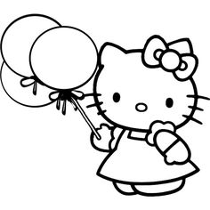 Hello Kitty Coloring Pages Hello Kitty Coloring ❤ liked on Polyvore