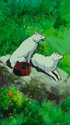 Studio Ghibli Characters, Studio Ghibli Movies, Hayao Miyazaki, Princess Mononoke Wallpaper, Pom Poko, Studio Ghibli Background, Chihiro Y Haku, Nature Iphone Wallpaper, Anime Art