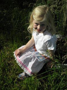 Upcycled Skirt Age 4-5 Years by wonderbugs on Etsy, $12.00