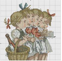 """The Birthday Gifts"" Hummel cross stitch pattern 1A"