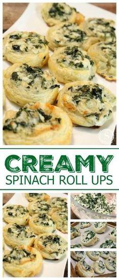 Creamy Spinach Roll Ups Recipe! Creamy Spinach Bites Easy Recipe! Super Bowl Appetizer Recipe for a Bite Sized Mini Snack! by juliet