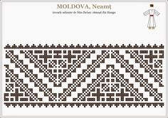 Folk Embroidery, Embroidery Stitches, Embroidery Patterns, Machine Embroidery, Knitting Patterns, Moldova, Antique Quilts, Tapestry Crochet, Bead Weaving