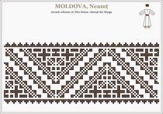 romanian traditional motifs - MOLDOVA - Neamt, Hangu (Semne Cusute)