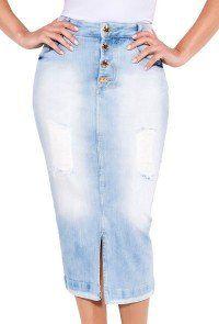 5b9362c85 Saias da Marca Titanium - Compre Online. 24102 modelo cabelo castanho saia  tradicional midi alta frente baixo