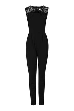 **Lace Panel Jumpsuit by Wal G