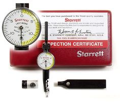 With their small size, these Starrett Dial Indicators are among the most versatile available. Shop the Starrett Last Word at LittleMachineShop today! Drafting Tools, Machinist Tools, Precision Tools, Measuring Instrument, Maker Shop, Garage Workshop, Little Books, Metal Working, Man Cave