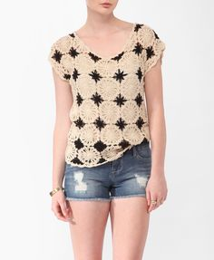Scalloped Crochet Top | FOREVER21 - 2000038438