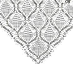 Discover thousands of images about crochet shawl patterns Crochet Shawl Diagram, Poncho Au Crochet, Crochet Wrap Pattern, Crochet Shawls And Wraps, Crochet Chart, Knitted Shawls, Filet Crochet, Crochet Scarves, Crochet Stitches