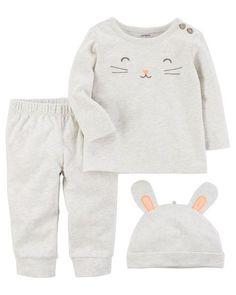 Baby Girl 3-Piece Cotton Take-Me-Home Set from Carters.com 8e975c822267