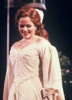 Renee Fleming during a 1980's performance with Opera Omaha.