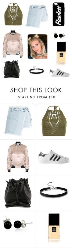 """Untitled #134"" by luckylover0801 ❤ liked on Polyvore featuring Sandy Liang, New Look, Topshop, adidas, Rebecca Minkoff, Bling Jewelry and Chanel"