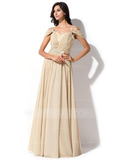 Evening Dresses - $138.99 - A-Line/Princess Off-the-Shoulder Floor-Length Chiffon Charmeuse Lace Evening Dress With Ruffle Beading Sequins (017052643) http://jjshouse.com/A-Line-Princess-Off-The-Shoulder-Floor-Length-Chiffon-Charmeuse-Lace-Evening-Dress-With-Ruffle-Beading-Sequins-017052643-g52643