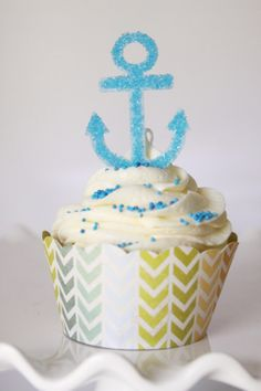 13 EDIBLE Blue Nautical Boat Cruise Anchor by SweetPetalCottage, $15.00