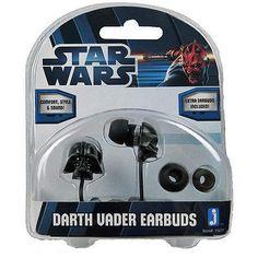 Jazwares Star Wars Darth Vader Stereo Earphones