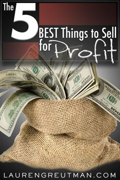 Are you looking to make some extra cash without getting another job? Here are 5 of the best things to sell to make money. via /iatllauren/