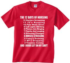12 Days of Nursing funny t shirt tshirt tee by youngandstyling