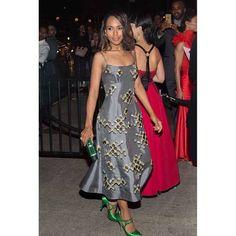 #KerryWashington #MetGala Afterparty -krew Dress x Clutch x Shoes @Prada  Jewels @HarryWinston