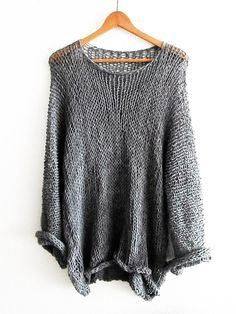 Boho OverSized Sweater   Round Neck Top Long Sleeved  I like the gray- it is $20.94 #3975 is light grey
