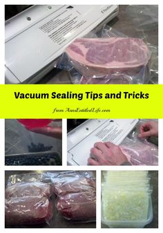 Vacuum Sealing Tips and Tricks; make the most of your foodsaver with these vacuum sealing tips and tricks! http://www.annsentitledlife.com/library-reading/vacuum-sealing-tips-and-tricks/