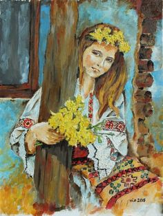ARTFINDER: Traditions by Violeta Oprea - An oil painting catching the traditional essence of the Romanian women.....