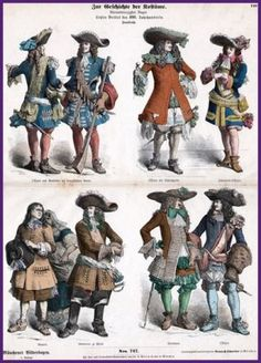 Male Costumes of 17th Century France