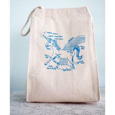 Reusable Unicorn Lunchbag #lunchbag $10 #fab.com
