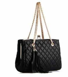 604589877965 Pu Leather Soft Quilted Metal Chain Black Handle « Better product Adds for  any home. Jeffery Mars · Chanel Handbags