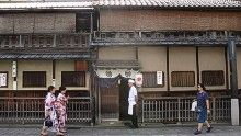 At Gion Karyo, the chef personally bids farewell to guests as they leave.