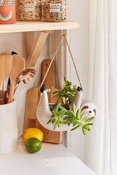 Shop Sloth Hanging Planter at Urban Outfitters today. Hanging Succulents, Hanging Planters, Indoor Planters, Farmhouse Side Table, Rustic Farmhouse, Handmade Home Decor, Diy Home Decor, Cerámica Ideas, Decor Ideas