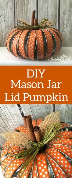Mason Jar Pumpkin - DIY Mason Jar Lid Crafts kit - Fall Pumpkin - Mason Jar Lid Pumpkin kit - Mason Jar Craft Kit - Fall Crafts - Fall pumpkin Decor - Fall Decor - #affilate