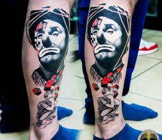 Clown Face tattoo by Barbara Kiczek