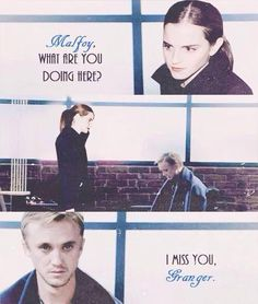 Dramione, I love this but at the same time they're both married so... Hmm... Wonder what Ron was doing when this happened... Is Hermione cheating on him :O